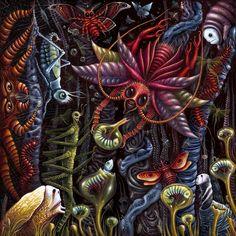 """Underworld I"" by Robert Steven Connett Acrylic on canvas - 24"" X 24"" May, 2009"