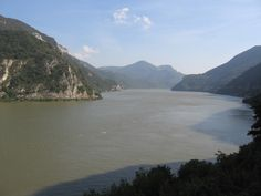 The Danube in Serbia, towering white sheets of rock either side (subchapter 23)