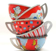 Set of tin cups, cuteness!
