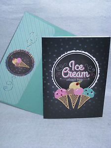 Burgoyne Handmade Ice Cream Birthday Greeting Card New | eBay