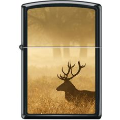 Shop Elk at Sunrise Zippo Lighter at American Expedition - Made in USA - Matte Black Finish With the Image of an Elk - Lifetime Guarantee Wolf Emblem, Cool Zippos, Environmentally Friendly Gifts, Lighter Fluid, Zippo Lighter, Gas Station, Elk, Mists, Sunrise
