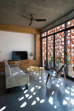 Thiết kế nhà không gian mở với mặt tiền ấn tượng