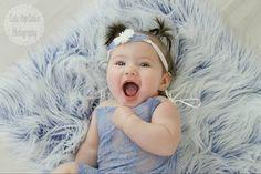 Frosted Blue MOngolian Faux Fur Prop Newborn by SweetBabyJamesShop
