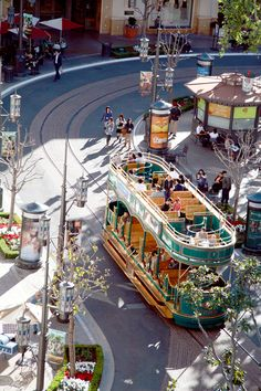 """Trolley at the Grove.   Los Angeles, CA.  2012 road trip with John, Connie and Ted.  """" visiting cousin Issac"""""""
