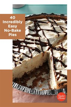 Wow everyone at your table with these no-fuss, no-bake pie recipes—no oven required! From creamy chocolate to lemony layers, the perfect ending to any fabulous meal is right here. No Bake Desserts, Dessert Recipes, No Bake Pies, Distress Ink, Home Recipes, Pastries, Sweet Recipes, Sweet Treats, Desert Recipes