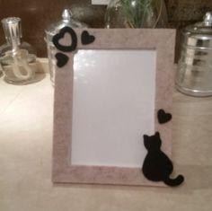 Portaritratti Gatto, Cat Frame, Cat Picture Frame, portafoto gatto - portafoto 13x18 cm di Le1000ideediBamu su Etsy