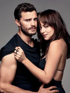 Fifty Shades of Grey, the movie. Christian/Jamie and Anastasia/Dakota. This is a hot picture of them.