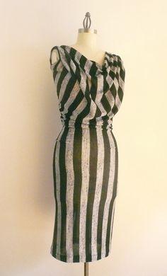 I love me some stripes!  Maria Severyna Black and Grey Stripe Cotton Drape by DDreamCloset, $237.00