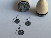 Bowling Pin und Kugel Mini Stempel Mini-Stempel