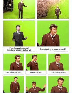 David Tennant shooting his final scenes (gif) --- his video diary of this is completely heartbreaking