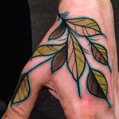 traditional leaves tattoos - Google Search