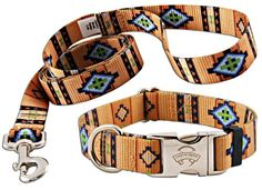 Premium Patterned Polyester Dog Collar & Matching Leash Set-Native Southwestern-M Country Brook Design http://www.amazon.com/dp/B00BHLG9MY/ref=cm_sw_r_pi_dp_eQkUtb097JBB6HCK