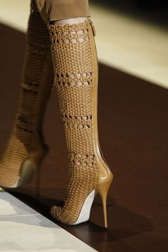 fashion high heels yellow mustard woven Gucci boots 2013 2014