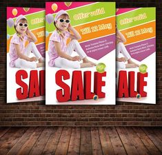 Kid Clearance Sale Flyer Template. Promotion Flyer