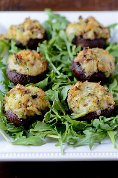 Crab and Brie Stuffed Mushrooms  http://www.pink-parsley.com/2012/02/crab-and-brie-stuffed-mushrooms-for.html