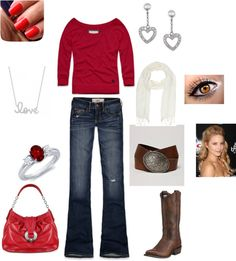 """""""red hollister I have to get this outfit"""" by sweetnothing36 on Polyvore"""