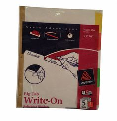 Avery Advantages Big Tab Write-On Reference Dividers (23176)