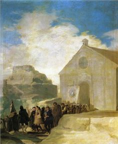 Francisco Jose de Goya Y Lucientes Village Procession hand painted oil painting reproduction on canvas by artist Francisco Goya, Spanish Painters, Spanish Artists, Jose Maria Velasco, Goya Paintings, Art Database, Oil Painting Reproductions, Old Master, Still Life Photography