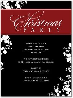 Invite your guests in style with these Christmas party invitations ...