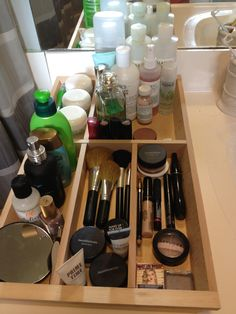 Utensil Tray Turned Product Organizer {simple and cheap way to de-clutter}