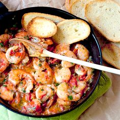 Cilantro Lime Shrimp - Shrimp sauteed in a cilantro-lime-tomato sauce with all the flavors of Mexico. From @NevrEnoughThyme http://www.lanascooking.com/cilantro-lime-shrimp
