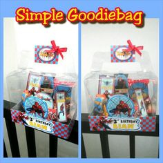 Simple goodiebag spiderman themed