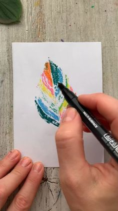 Creative and colorful postcard DIY kids. Watch video tutorial and create with Artistro markers. This fall leaves crafts are easy to make with children in autumn evening. Artistro paint pens help you create your wildest ideas. Use our paint pens to bring to life the freshness of different things. Kids Crafts, Diy Crafts Hacks, Crafts To Do, Creative Crafts, Fall Crafts, Christmas Crafts, Arts And Crafts, Fall Leaves Crafts, Diy Creative Ideas