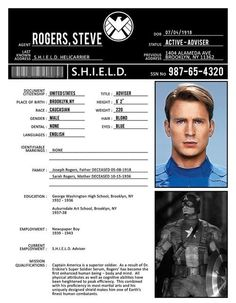 Captain America SHIELD File. Technically this version of Cap is definitely superhuman not just peak human
