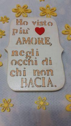 """Pergamena in legno """"HO VISTO PIÙ AMORE"""", by Lapinoma idee in…"""
