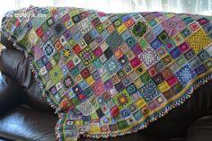 Taa daa... The Crochet Mood Blanket!