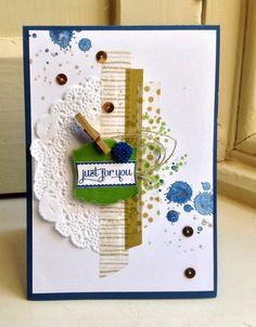 Gorgeous grunge and label love with watercolor wonder washi tape Stampin Up UK Demonstrator Zoe Tant blog