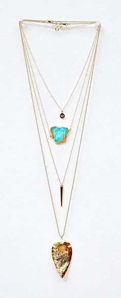 awesome Jewels: gemstone gold necklace boho stacked jewelry boho jewelry gypsy native american turquoise by post_link