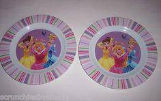 2 Disney Belle Cinderella Sleeping Beauty Kids Plates