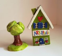 Little Clay House  Clay Art Studio  Ceramic Art by HeartHomes