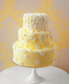... Daisy Wedding Cakes, Daisy Cakes, Unique Wedding Cakes, Wedding Cakes With Flowers, Cake Wedding, Wedding Ideas, Dessert Wedding, Wedding Recipe, Wedding Photos