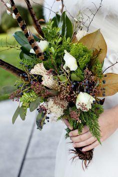 turkey feathers in bouquet