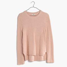 A crazy-soft crewneck sweater with textured ribbing, engineered for a flattering streamlined look. Say <i>bonjour</i> to your new favorite option for lazy sweater days. <ul><li>True to size.</li><li>Cotton/viscose/nylon.</li><li>Hand wash.</li><li>Import.</li></ul>