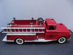 TONKA Suburban Pumper Fire Truck Red Pressed Steel Firetruck Toy complete nice #Tonka #Tonka