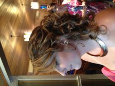 Updo- Curly - side - long hair - great for wedding or prom.