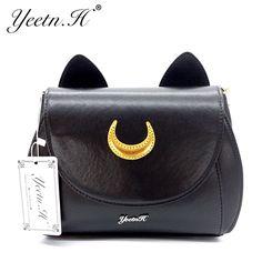 8317f8392d4c 2017 New Arrival Women Messenger Bags Lady Sailor Moon Bag Women Cat Handbag  Luna Moon Women Cross Body Bag Ladies