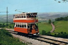 Tramcar No. built in 1905 and acquired from Johannesburg, South Africa, approaches the Glory Mine terminus, 810 ft above sea level. The Derwent Valley is in the background Johannesburg City, Derwent Valley, Road Transport, Light Rail, Sea Level, Letterpress Printing, Derbyshire, Museum Collection, Countryside