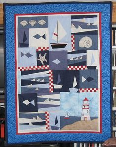 Seaside quilt by Sulky - the actual pattern is here: http://www.sulky-international.de/images/anleitung/Seaside.pdf