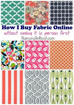 Would have NEVER thought of this, but its so clever! How I Buy Fabric Online (Without Seeing It In Person First)