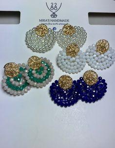 Soutache Jewelry, Bead Jewellery, Beaded Jewelry, Bridal Jewellery Inspiration, Silk Thread Bangles Design, Bead Sewing, Wire Earrings, I Love Jewelry, How To Make Beads