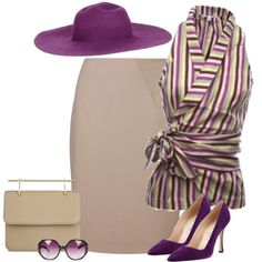 A fashion look from August 2013 featuring pleated skirts, high heeled footwear and brown purse. Browse and shop related looks. Skirt Fashion, Fashion Outfits, Work Fashion, Womens Fashion, Classy Outfits, Pretty Outfits, Moda Peru, Sunday Brunch Outfit, Fashion Terms
