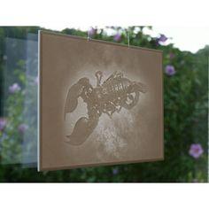 "#lithophane ""Scorpio"" , 18 x 13cm, shown at window, © Lithophanie24.de"