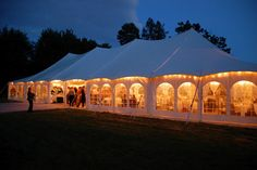 Earhart Manor tent at night in Ann Arbor, MI coordinated by TwoFoot Creative