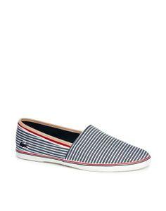 9b3c332037 ASOS | Lacoste Aimard Ticking Slip-On Sneakers #asos #slipon #shoes  Plimsolls