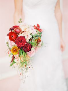 #bouquet  Photography: Michelle March - michelle-march.com  Read More: http://www.stylemepretty.com/2014/03/31/red-wedding-inspiration-at-boca-raton-resort-club/