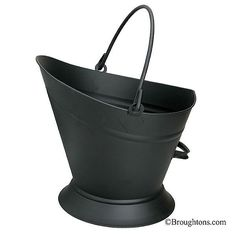 Waterloo bucket Buckets are perfect for transportation and storage of all types of solid fuels. Fireplace Tools, Open Fires, Fireplace Accessories, Bar Tools, Hardware, Buckets, Design, Ice, Black